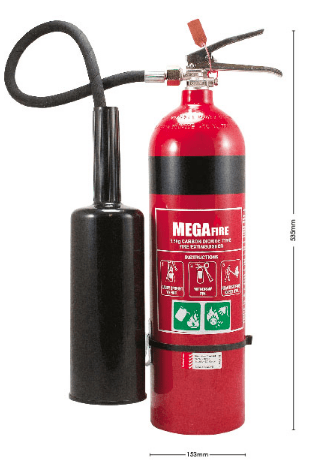 3.5KG FIRE EXTINGUISHER - CO2 - MF3.5CO2