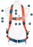 1100 ERGO FULL BODY HARNESS - 1100 ERGO-BP