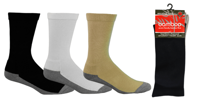 BAMBOO CHARCOAL HEALTH SOCKS - BTSOCK.H