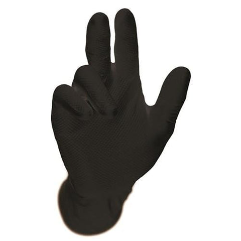 BLACK GRIPPAZ DISPOSABLE NITRILE GLOVES - BOX GPAZB
