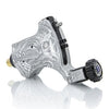 V5 Platinum Silver Bio-Mech — Hand-Engraved Bishop Rotary Tattoo Machine