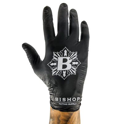 Bishop Tattoo Supply - Black Nitrile Gloves