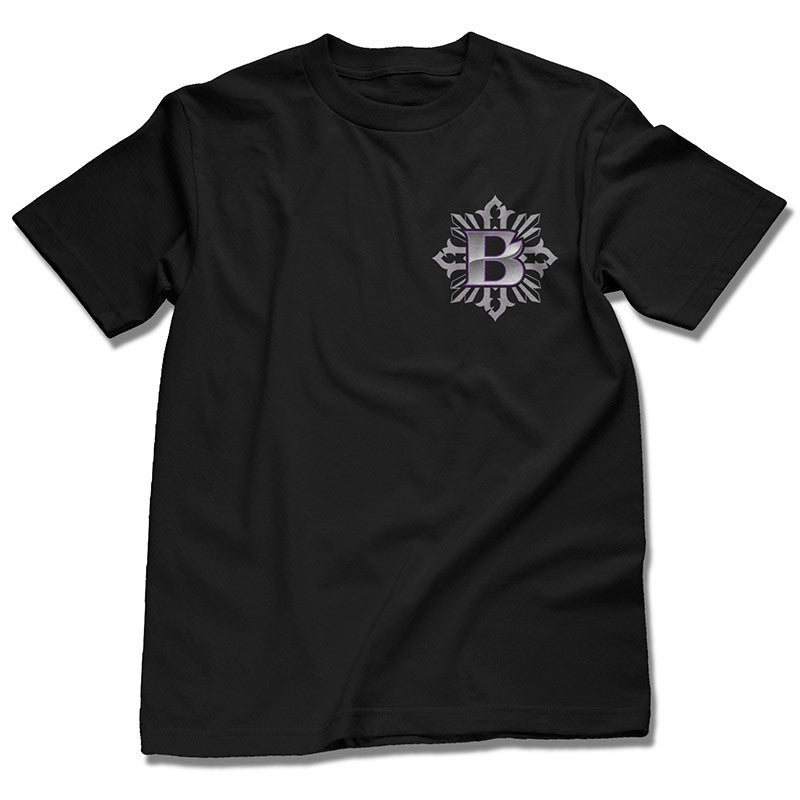 BTS Logo on Back of Black Tee