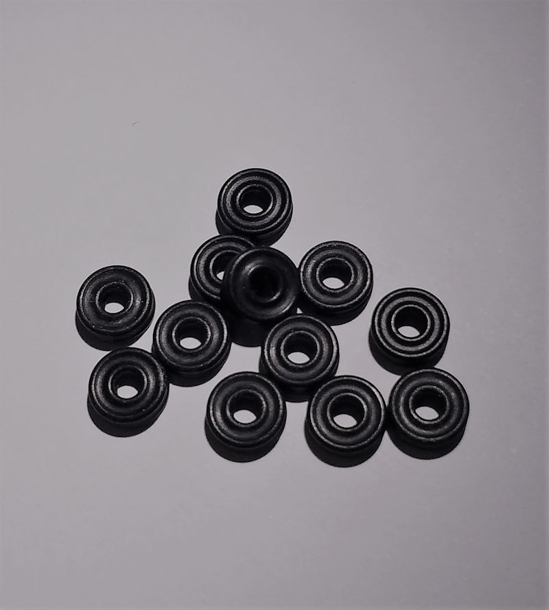 Microangelo Grommet Nipples in Black - Bag of 10