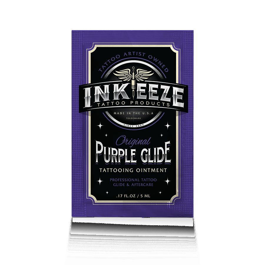 INK-EEZE Purple Glide Tattoo Ointment - 5ml Packet