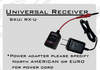 Universal Receiver & Adapter for U.S.-Critical Power Supply