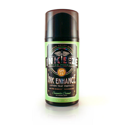 INK-EEZE  INK ENHANCE Daily Moisturizer SPF 15 Cucumber Coconut - 3.3oz Airless Pump