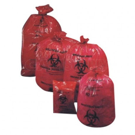 Biohazard Bags - 10 Gallon - Pack of 200