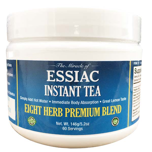 Essiac Instant Tea, add one scoop to cup, add hot water and enjoy