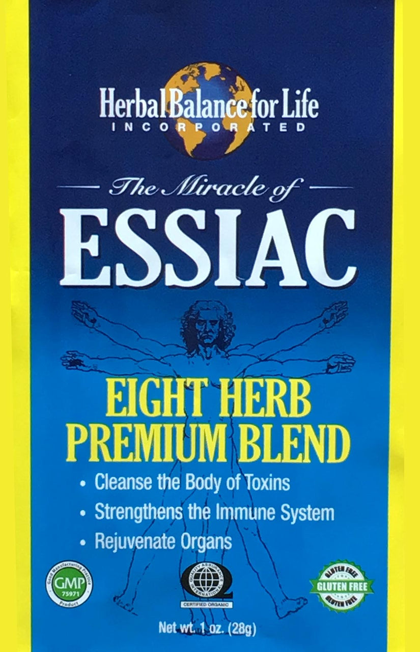Essiac Tea, 8 Herb Upgraded Formula, Certified Organic by QAI, San Diego, Makes 16 - 1 Quart Bottles, 4 Gal. Essiac Tea, 128 Day Supply
