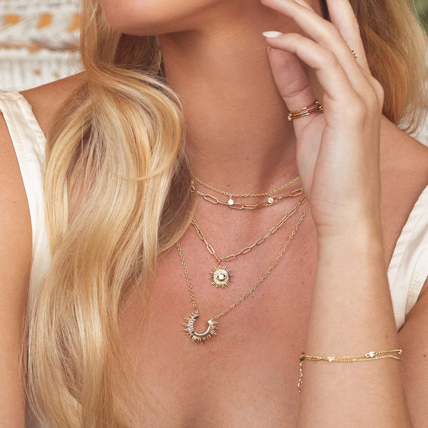 Sunset Voyage Necklace in Clear
