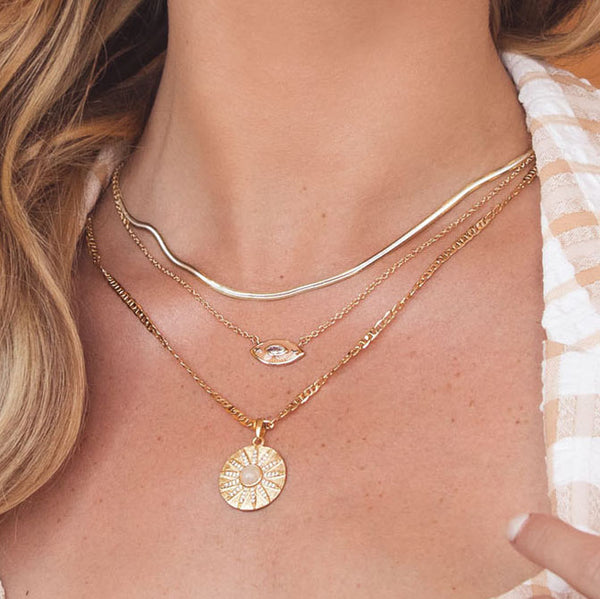 Siren Necklace in Nude