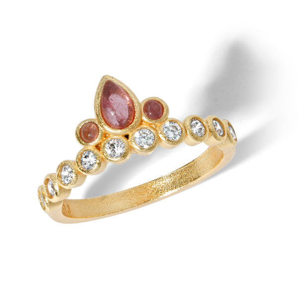 Sacred Bloom Ring in Pink Tourmaline