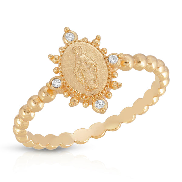 Lady Lourdes Ring in Gold