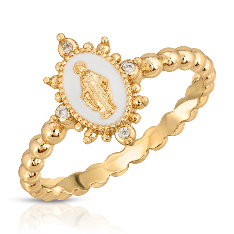 Lady Lourdes Ring - White
