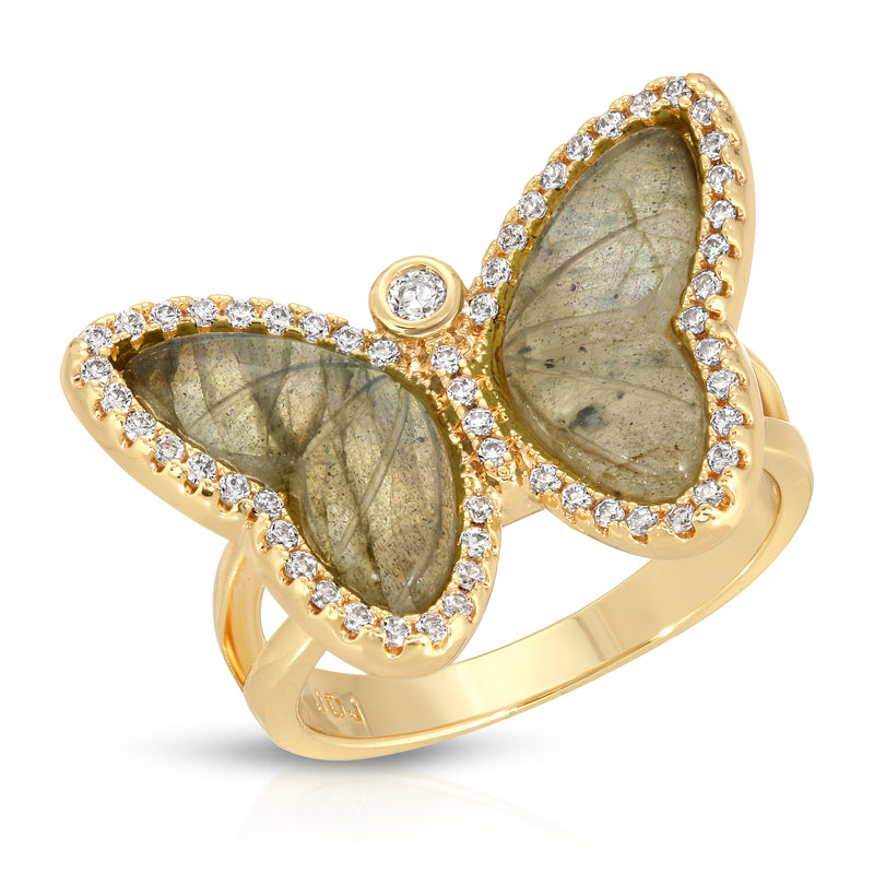 Allure Butterfly Ring in Labradorite