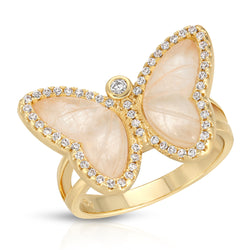 Allure Butterfly Ring in Moonstone