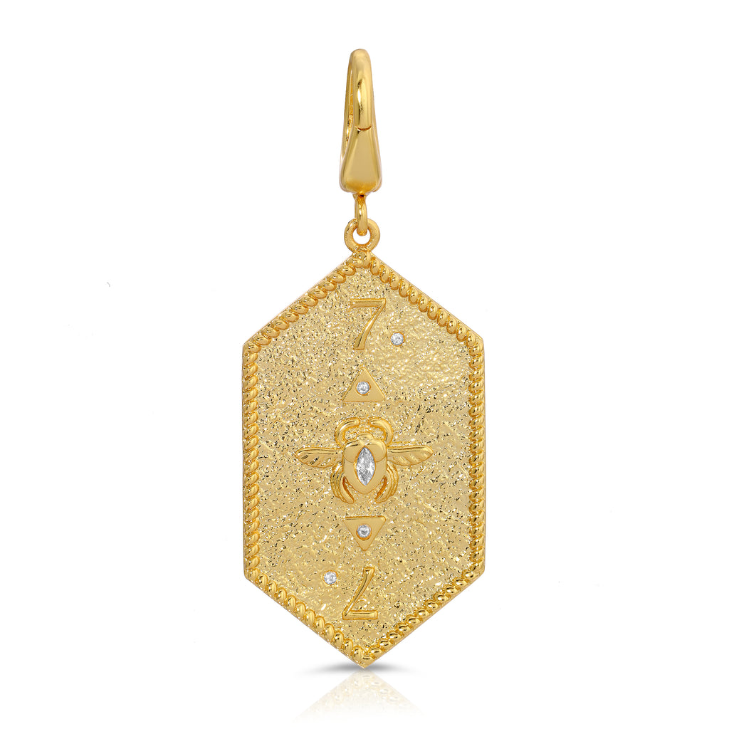 Vega Diamond Pendant - Gold/Champagne Diamond