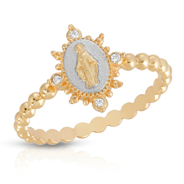 Lady Lourdes Ring in Silver/Gold