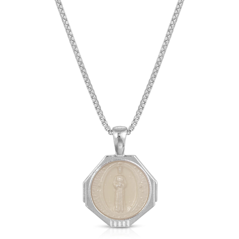 Sofia Pendant Necklace in Silver