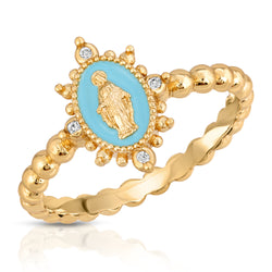 Lady Lourdes Ring in Aqua