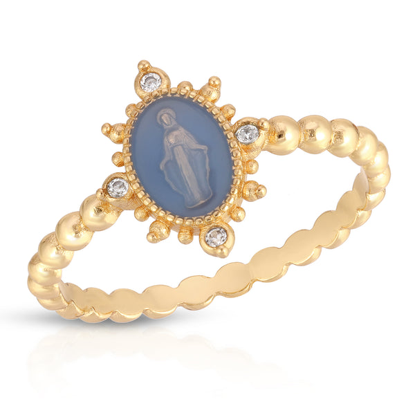 Lady Lourdes Ring in French Blue