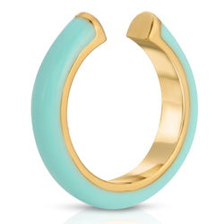 No Bad Days Ear Cuff in Aqua