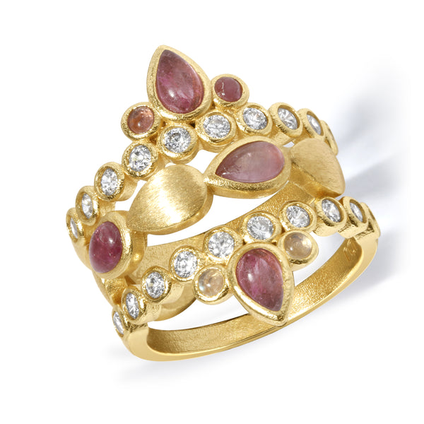 Sacred Bloom Band in Pink Tourmaline