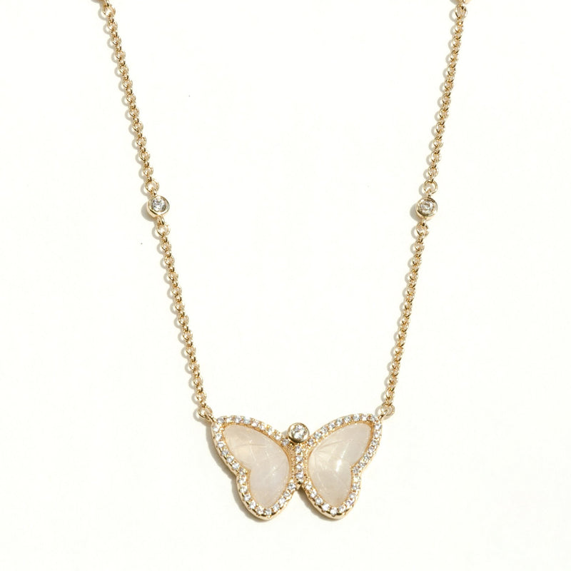 Allure Butterfly Pendant in Moonstone