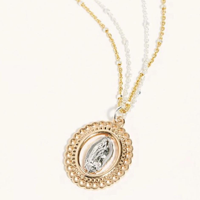 The Mary Pendant Necklace in Silver