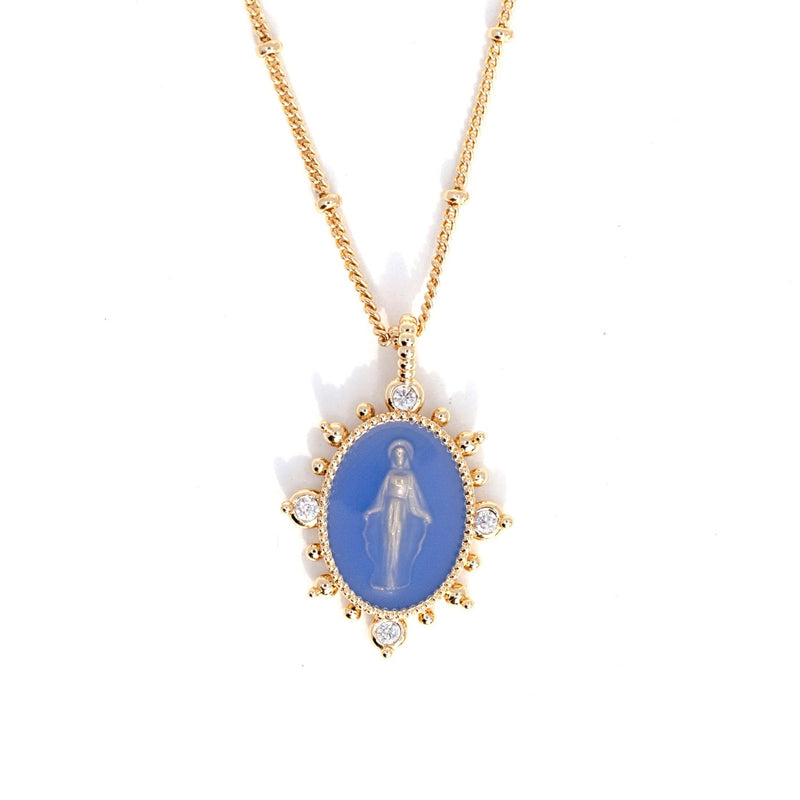 Lady Lourdes Pendant in French Blue