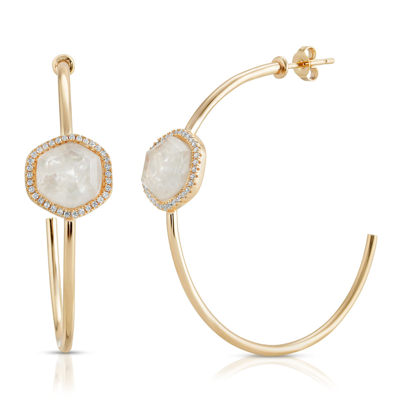 Chloe Hoops - MOONSTONE