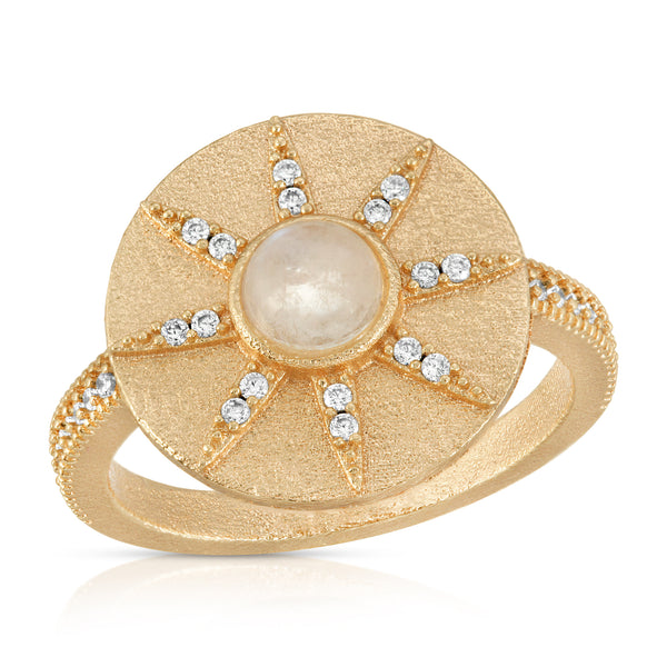 Stargazer Ring in Moonstone