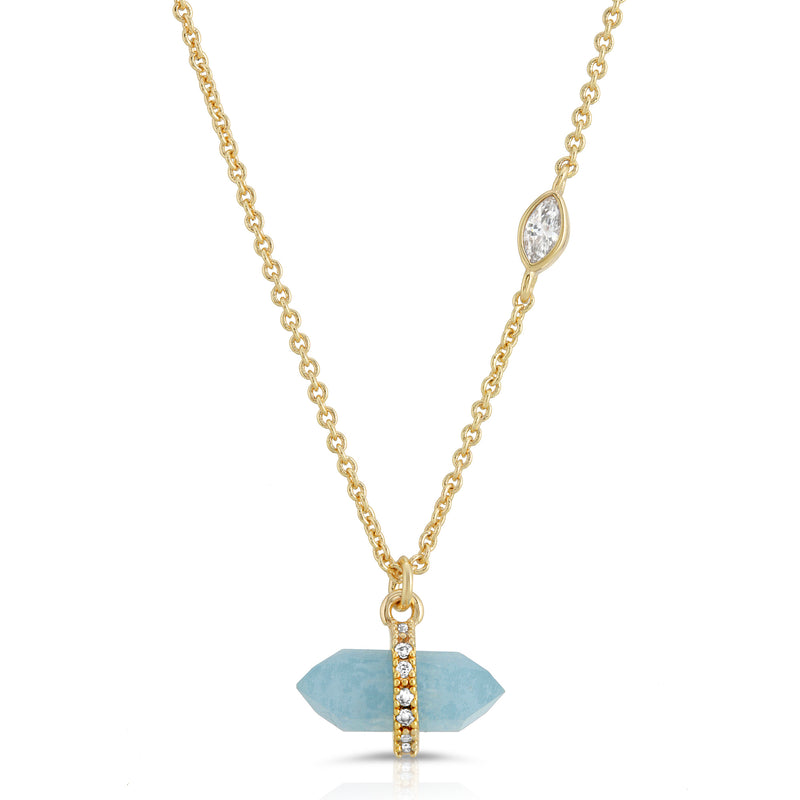 Noveau Necklace - AQUAMARINE