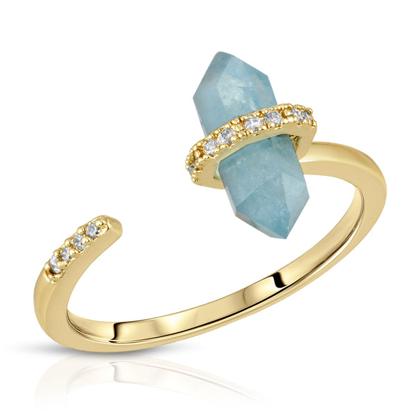 Noveau Ring in Aquamarine