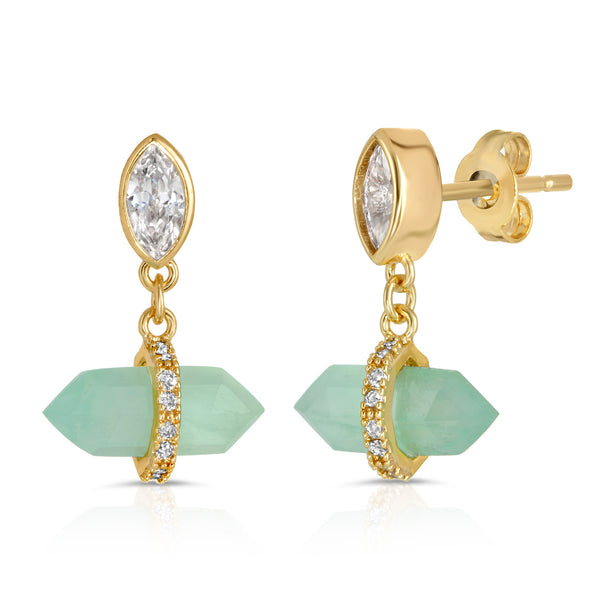 Noveau Drop Earring in Chrysoprase