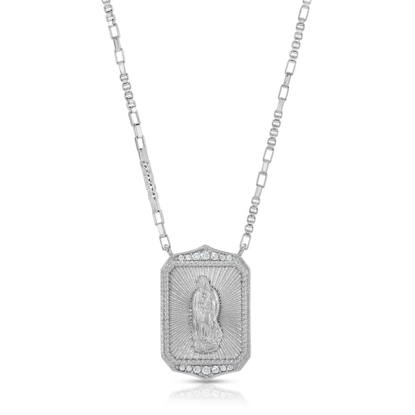 Madonna Pendant Necklace in Silver