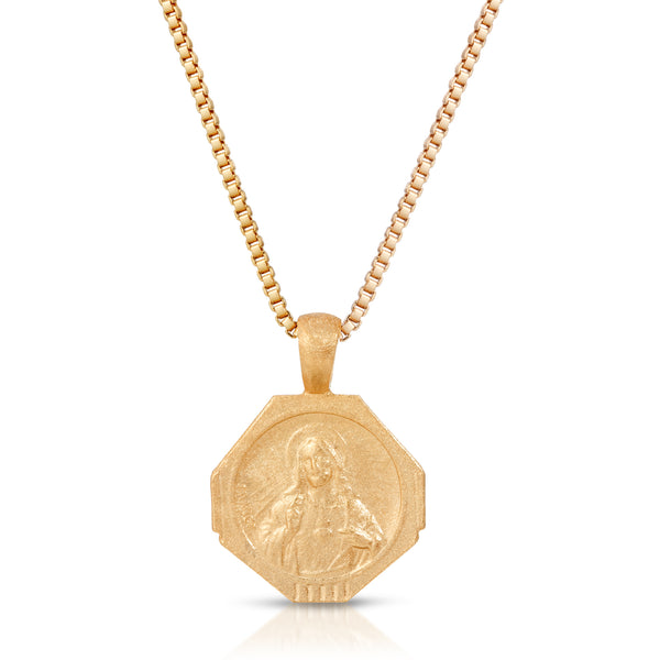 Sofia Pendant Necklace in Golden Nude