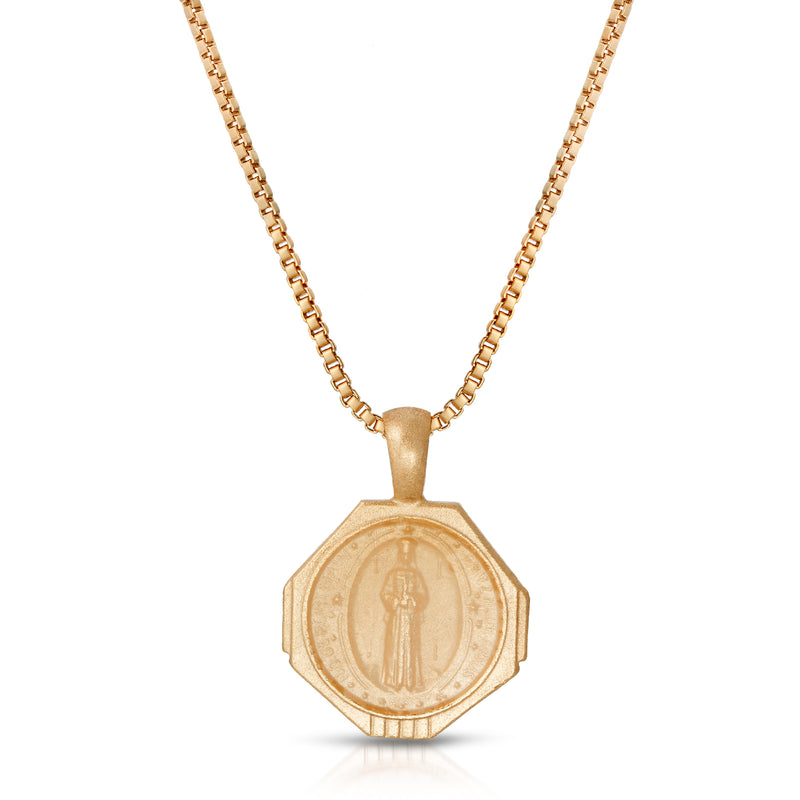 Sofia Pendant Necklace -Golden Nude