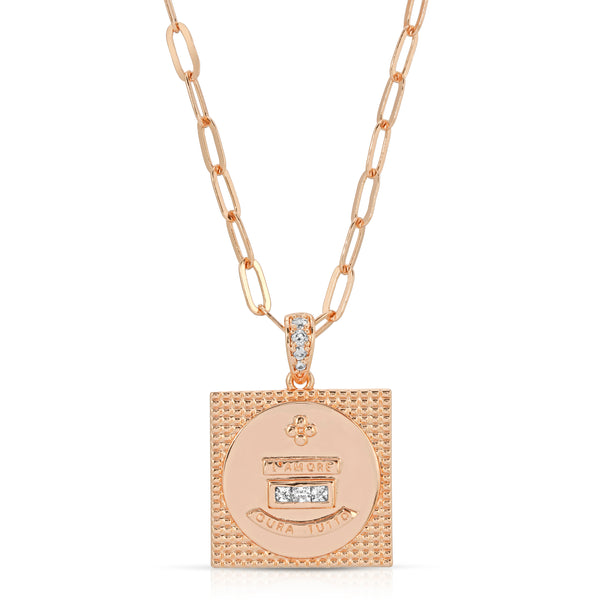 L'Amore Attraction Square Pendant