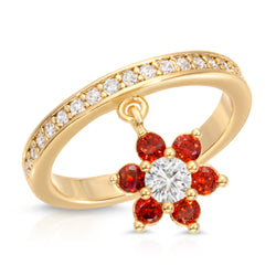 In Bloom Shaker Ring in Ruby