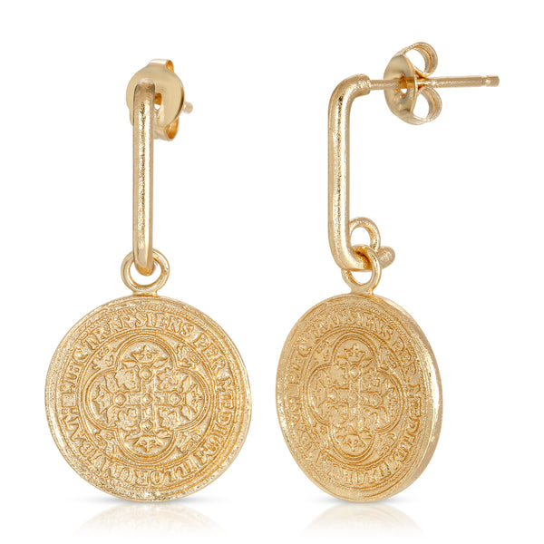 Dominique Coin Drop Earring