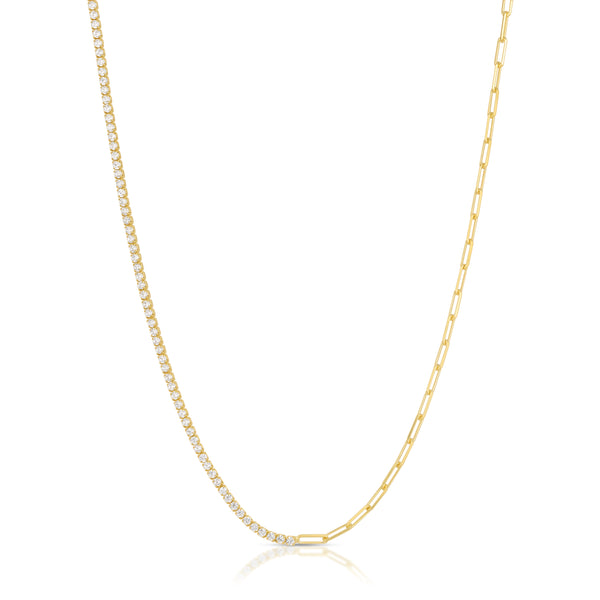 Luxe Antiquity Cross Necklace in Lemongrass