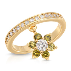 In Bloom Shaker Ring in Lemongrass
