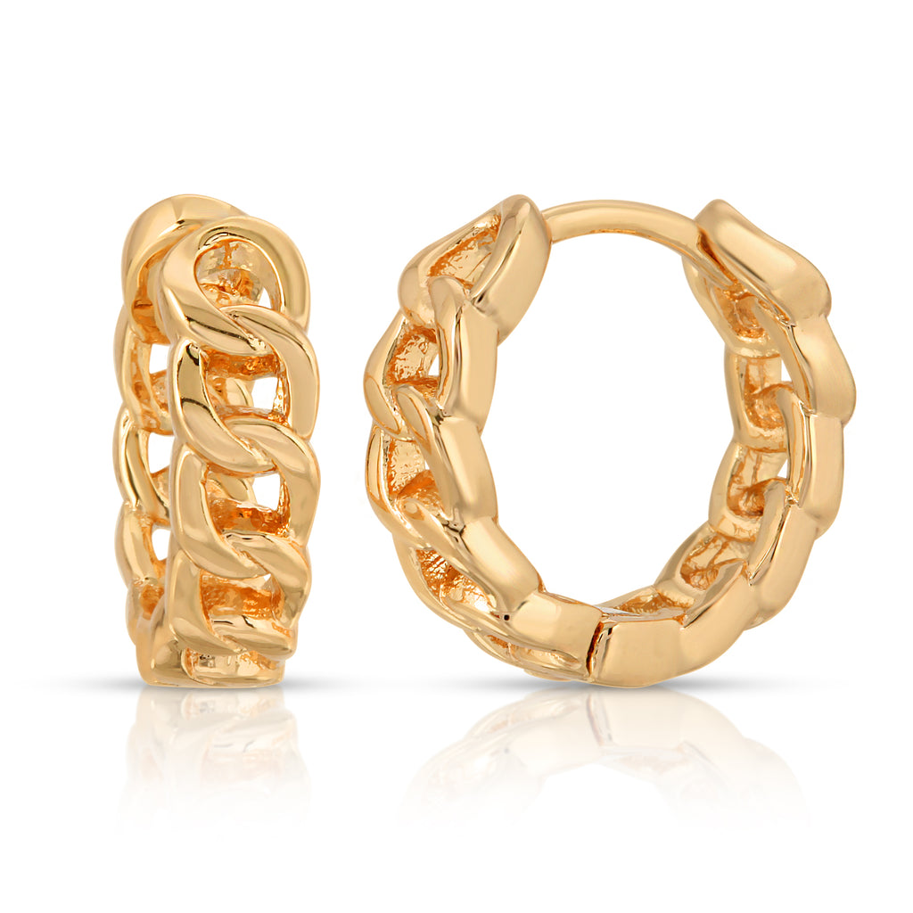 Chainlink Mini Hoop - Gold