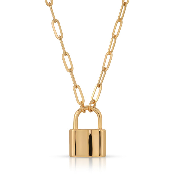 Monaco Lock Necklace in Gold