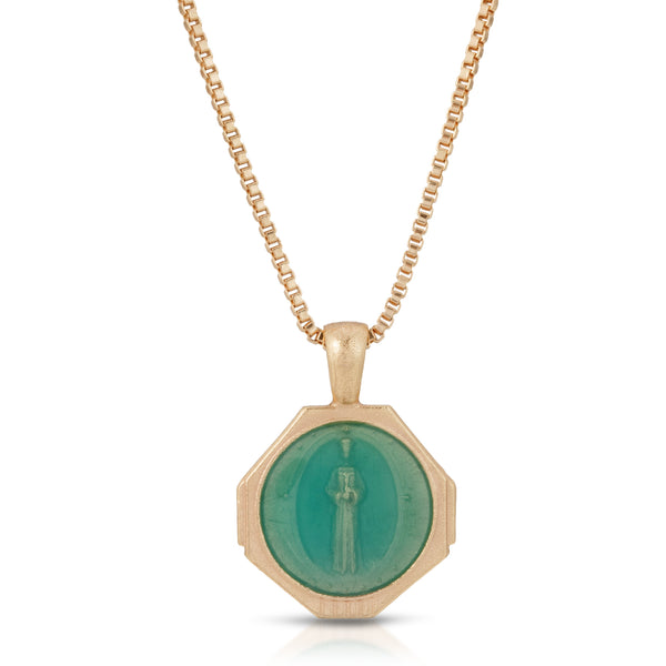 Sofia Pendant Necklace in Seafoam Green