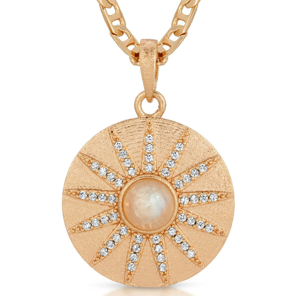 Stargazer Necklace in Moonstone