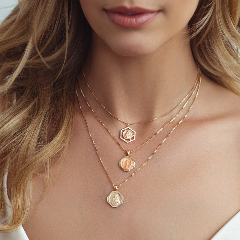 PREORDER: Sofia Pendant Necklace in Golden Nude (SHIPS JULY 20TH)