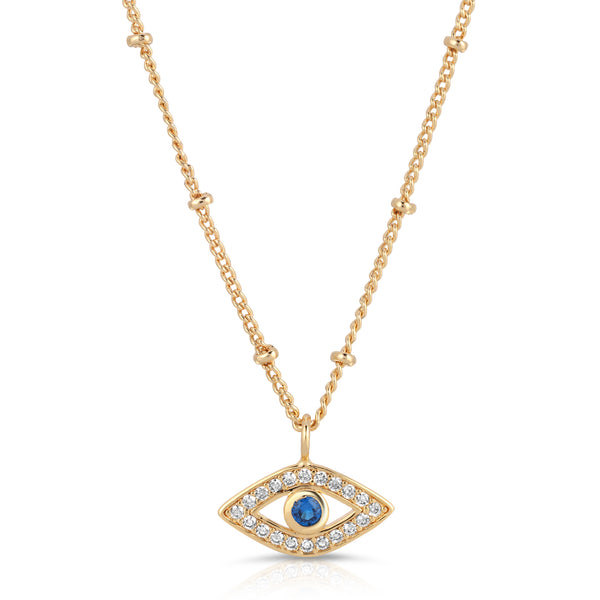 Gaze Eye Pendant Necklace